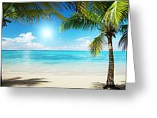 Islands In The Caribbean Sea Greeting Card by Boon Mee