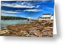 Isle Au Haut House Greeting Card by Adam Jewell
