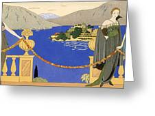 Isola Bella Greeting Card by Georges Barbier