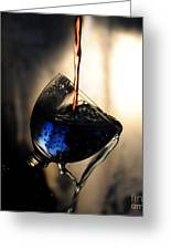 It Is Red And Blue Greeting Card by Randi Grace Nilsberg