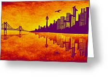 It Was Us That Scorched The Sky Greeting Card by Angelina Vick
