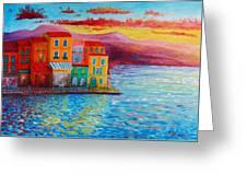 Italian Dream Greeting Card by Bozena Zajiczek-Panus