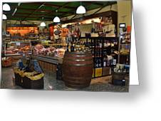 Italian Grocery Greeting Card by Dany Lison