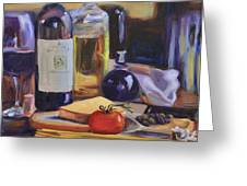 Italian Kitchen Greeting Card by Donna Tuten