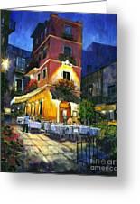 Italian Nights Greeting Card by Michael Swanson
