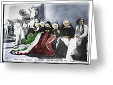 Italian Nuns Greeting Card by Tony Rubino