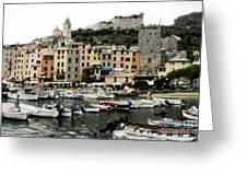 Italian Seaside Village Greeting Card by Jim  Calarese
