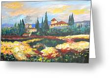 Italian Villa Greeting Card by Anna Sandhu Ray