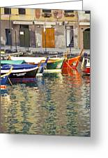 Italy Portofino Colorful Boats Of Portofino Greeting Card by Anonymous