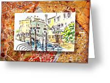 Italy Sketches Venice Canale Greeting Card by Irina Sztukowski