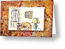 Italy Sketches Venice Hotel Greeting Card by Irina Sztukowski