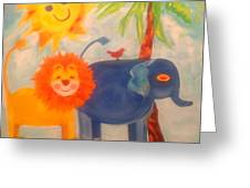 It's A Jungle Out There Greeting Card by Wendy Lewis