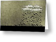 It's Raining Umbrellas Greeting Card by Gianfranco Weiss