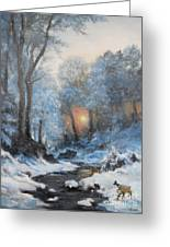 It's Winter Greeting Card by Sorin Apostolescu