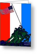 Iwo Jima 20130210 Red White Blue Greeting Card by Wingsdomain Art and Photography
