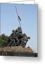 Iwo Jima Memorial - 12121 Greeting Card by DC Photographer