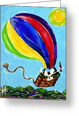 Jack And Charlie Fly Away Greeting Card by Jackie Carpenter