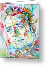 Jack Kerouac Portrait.1 Greeting Card by Fabrizio Cassetta