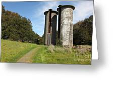 Jack London Ranch Silos 5d22162 Greeting Card by Wingsdomain Art and Photography