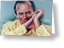 Jack Nicholson Portrait Greeting Card by Victor Powell