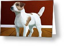 Jack Russell Terrier Portrait Greeting Card by Jacqueline Barden