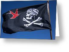 Jack Sparrow Pirate Skull Flag Greeting Card by Garry Gay