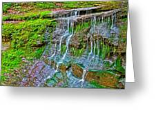 Jackson Falls At Mile 405 Natchez Trace Parkway-tennessee Greeting Card by Ruth Hager