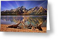 Jackson Lake Mt. Moran Greeting Card by Marty Koch