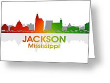 Jackson Ms Greeting Card by Angelina Vick