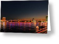 Jacksonville Acosta Bridge Greeting Card by Christine Till