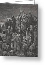 Jacob Goeth Into Egypt Greeting Card by Gustave Dore