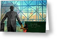 Jacob K. Javits Greeting Card by Diana Angstadt