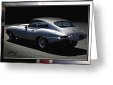 Jaguar E-type By Moonlight Greeting Card by Curt Johnson