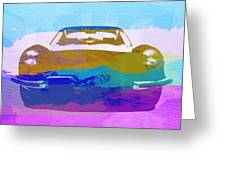 Jaguar E Type Front Greeting Card by Naxart Studio