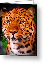 Jaguar Greeting Card by Michael Pickett