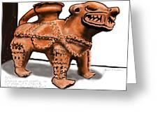 Jaguar Pottery Greeting Card by Jean Pacheco Ravinski