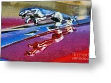 Jaguar V12 Badge Greeting Card by George Atsametakis
