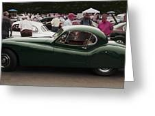 Jaguar Xk 120 Coupe Greeting Card by Curt Johnson