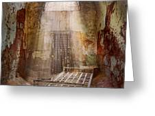 Jail - Eastern State Penitentiary - 50 years to life Greeting Card by Mike Savad