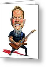 James Hetfield Greeting Card by Art
