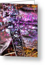 Jammin Out Digital Guitar Art By Steven Langston Greeting Card by Steven Lebron Langston