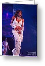 Janet Jackson-01 Greeting Card by Timothy Bischoff