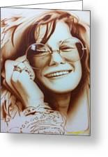 'janis' Greeting Card by Christian Chapman Art