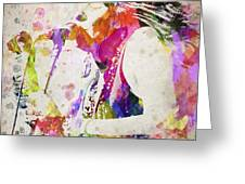 Janis Joplin Portrait Greeting Card by Aged Pixel