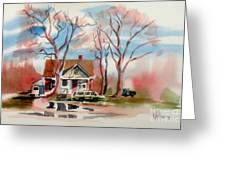 January Afternoon Greeting Card by Kip DeVore