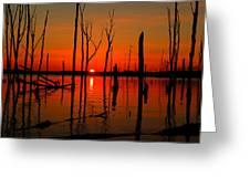 January Sunrise Greeting Card by Raymond Salani III