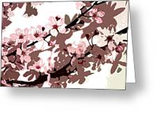 Japanese Blossom Greeting Card by Sarah OToole