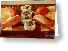 Japanese Cuisine Greeting Card by Inspired Nature Photography By Shelley Myke