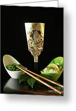 Japanese Fine Dining Greeting Card by Inspired Nature Photography By Shelley Myke