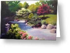 Japanese Garden At Cheekwood Greeting Card by Janet King